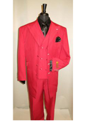 Mens Suit Red