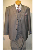 Vested Mens Suit Grey
