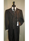buttons Vested Mens Suit