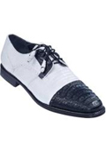 SKU#KA4732 Lizard & Gator Tip Dress Shoe - White