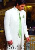 Jupiter Matrix Style White 45 Icnh Full Length Mandarin Collar 10 Button (5 x 2 Pair) $189