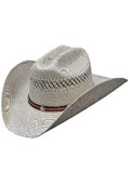 SKU#KA8788 Los Altos Hats-Two Tone Rodeo Straw Cowboy Hat - Brown and Natural