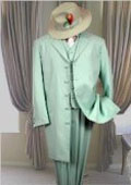 SKU 2709 MINT 3PC FASHION ZOOT SUIT WITH VEST A GREAT DEAL