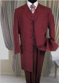 Burgundy ~ Maroon ~ Wine Color FASHION ZOOT SUIT 38'INCH LONG JACKET WITH COVERED BUTTON. $125