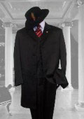 SKU 4471 BLACK SUIT 3PC FASHION ZOOT WITH VEST Cover Buttons 139
