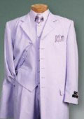 SKU 427 Lavender SUIT 3PC FASHION ZOOT WITH VEST Cover Buttons Comes 139