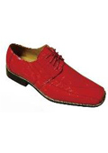 Men's Fashion Oxford Faux Croc-Embossed Leather Dress Shoes