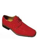 Men's Fashion Oxford Faux Croc-Embossed Leather Dress Shoes