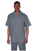 Longstry Mens Suit 100% Linen Fabric - Light Grey