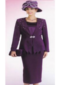 SKU#KA6116 Lynda Couture Promotional Ladies Suits- Purple $139