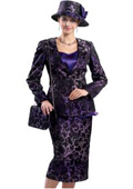 SKU#KA6124 Lynda Couture Promotional Ladies Suits- Purple Multi $139