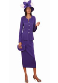 SKU#KA6726 Lynda Couture Promotional Ladies Suits – Purple $139