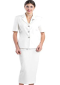 SKU#KA8321 Lynda Couture Promotional Ladies Suits - Ivory