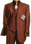 MU3TR-3 Copper~Rust~Cognac/Rust Classic and sophisticated three piece men's dress three piece suit $125