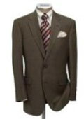 SKU PJ8 Highquality construction TwoButton Dark Brown Super Soft Wool Center Vent Suit 175
