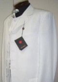 Men's White Shadow Stripe ~ Pinstripe Ton on Ton Fashion Dress Zoot Suit $139