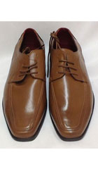 SKU#KA7220 Men's Two Tone Shoes Cognac,Rust, Copper, Light Brown