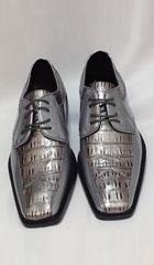 Men's Two-Tone Dress in Silver, Grey $99