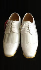 SKU#KA2241 Mens Two Tone Shoes White