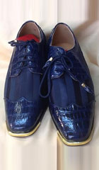 SKU#KA2241 Mens Two Tone Shoes Navy