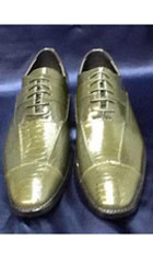 Mens Olive Green Dres Shoes $99