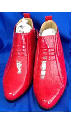 SKU#KA5201 Mens Red Two Tone Shoes