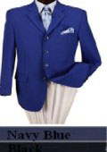 3 Button Style Jacket Mens Dress Blazer with Metal Buttons in 7 Colors $89