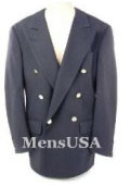 SKU YEC740 Hardwick Navy Blue 6 on 1 Style Colser Center Vent DoubleBreasted Performance Blazer Coat 299