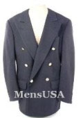 SKU IQP482 Hardwick Navy Blue Classic Doublebreasted jacket has 6 gold buttons on 1 Front Center Vent 299