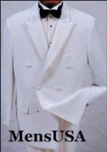 SKU EXH311 ModelTT32 New Mens white double breasted satin peak lapel formal tuxedo 149