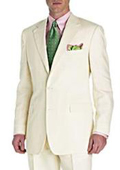 mixing dressy with casual quality Two Button Super fine all saison/tendency summer suit Cream ivory off white color $295