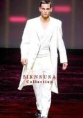 Men's Very Long Fashion Solid Snow White Zoot Suit $199