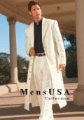 Men's Very Long Fashion Ivory/Off White Zoot Suit $199