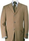 SKU#TT43 Mocha~Chestnut~Carmel Premier Quality Italian Fabric Wool Feel Poly~Rayon Suit Pleated Pants