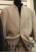 CExclusive Style Tan ~ Beige~Taup~khaki Mandarin Collar With 2 Button Front Style (can use tie with ) $149