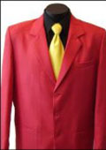 SKU# MUZD733TA Excluive 3 Button Mens Dress Blazer with Metal Buttons in Red Colors $139