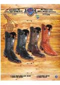 SKU#PN-1L 9X Botas tribaleras Rodeo Toe Genuine Caiman Belly Cowboy Western Boots Multi-color