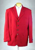 SKU# MUZD744TA Excluive 4 Button Mens Dress Blazer with Metal Buttons in Red Colors $99