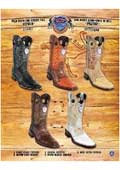 SKU#PN82 Rodeo Toe Genuine Ostrich In Rubber Sole Cowboy Western Boots Multi-color