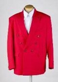 MENS RED Double Breasted BLAZER JACKET $89