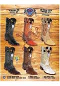 SKU#PNJ72 Rodeo Toe Genuine Ostrich Leg Cowboy Western Boots Multi-color