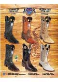 SKU#PN-R78 Rodeo Toe Genuine Caiman Belly Cowboy Western Boots Multi-color