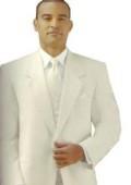 SKU# Y724GA Ivory/Off White/Cream 2 button Style jacket Notch Lapel Tuxedo single breasted non-vented back