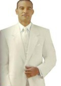 Ivory/Off White/Cream 2 button Style jacket Notch Laple Tuxedo single breasted non-vented back