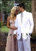 Classic 1 Button White Dress Notch Lapel Tuxedo Single Breasted $149