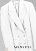 Cream ~ Ivory ~ Off White, Six Button Double Breasted Performance Blazer Jacket Coat $139