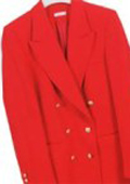 Red , Six Button Double Breasted Performance Blazer Jacket Coat $139