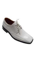 SKU#PN-X2 Men's Fashion Oxford Faux Leather Dress Shoe White