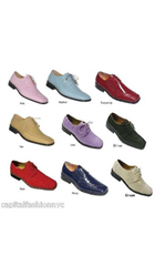 SKU#PN_E3 Fashion Casual Faux Croc Embossed Leather Mens Dress Shoes lots colors