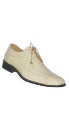 SKU#PNK8 Mens Quality Oxford Fashion Faux Leather Dress Shoes Cream $75